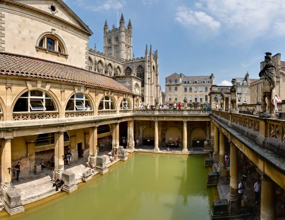 Portada-Baños romanos de Bath, Inglaterra (CC BY 2.5)