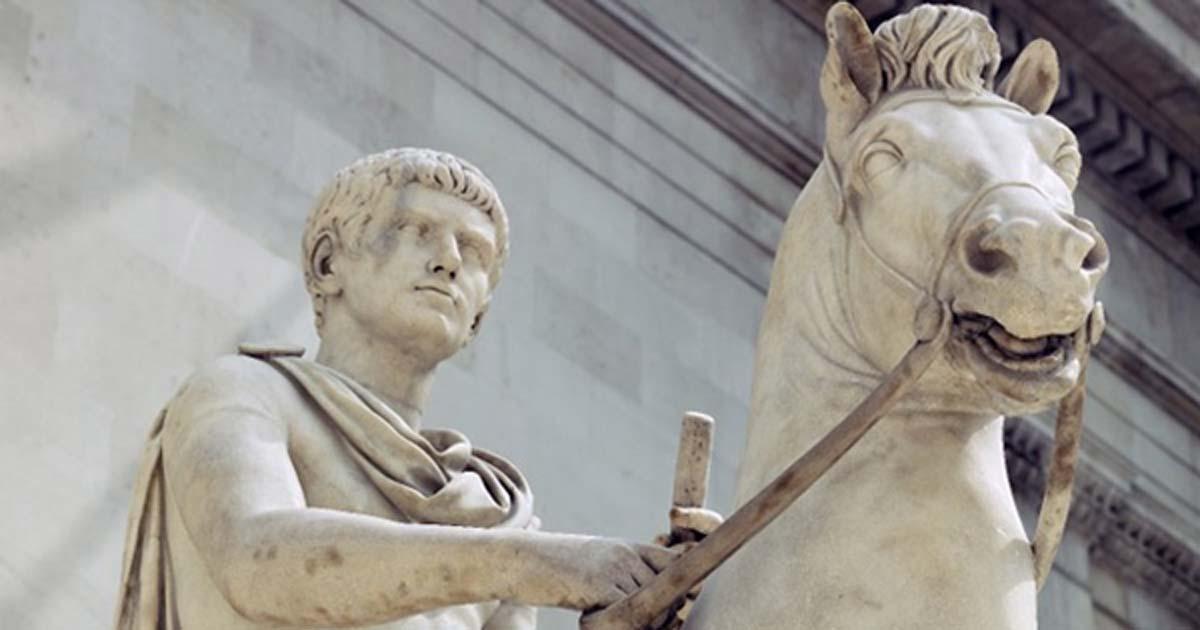 Portada - Estatua ecuestre de un príncipe de la dinastía Julio Claudia, identificado habitualmente como Calígula. (Museo Británico/CC BY NC SA 4.0)