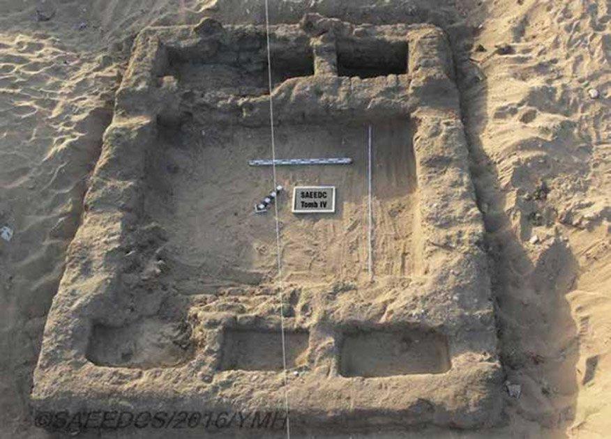 Portada - Elemento del asentamiento recientemente excavado cerca del templo de Seti I en Abidos. (Ministerio de Antigüedades de Egipto)