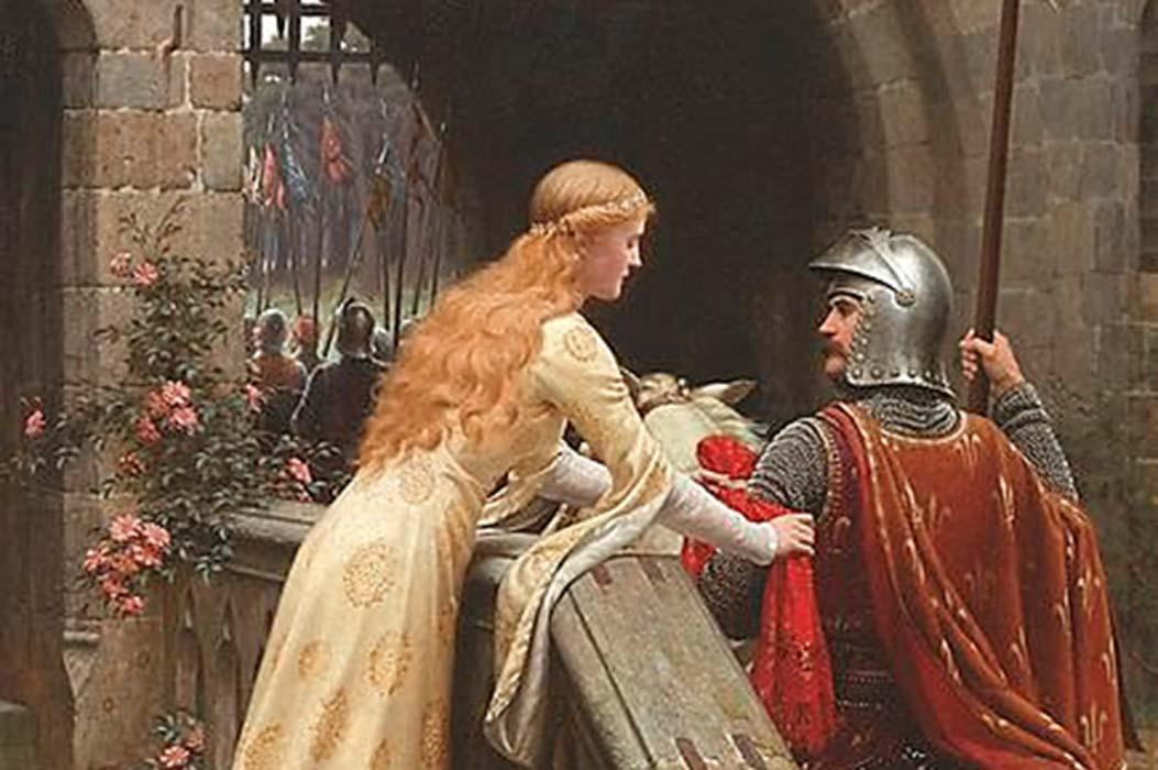 """Portada - 'God Speed' (""""Ve con Dios""""), óleo de Edmund Leighton (1900). Fuente: Dominio público"""