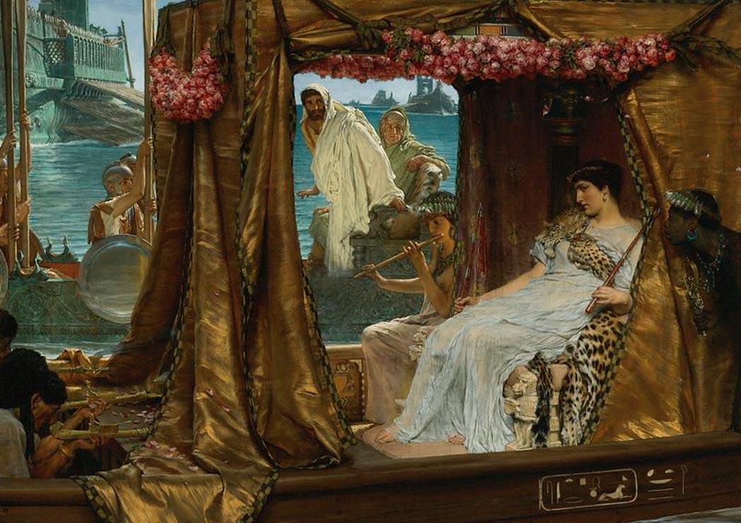 Portada - El encuentro entre Marco Antonio y Cleopatra', obra de Lawrence Alma-Tadema.