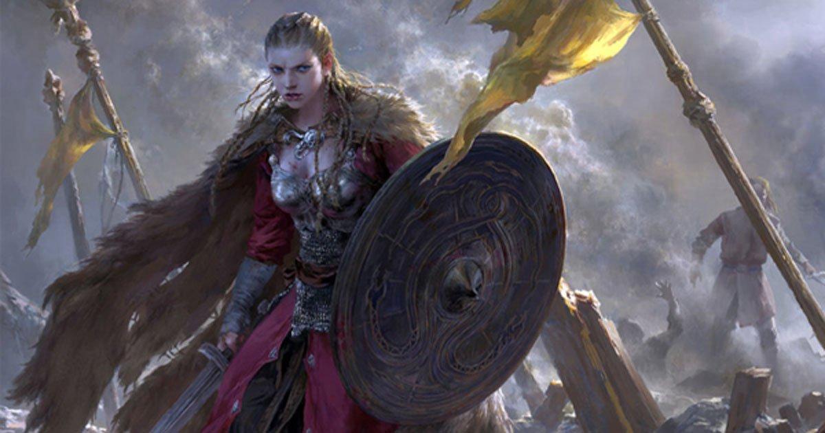 Portada - 'Brunilda,' imagen representativa de una mujer guerrera de la época vikinga. Fuente: FLOWERZZXU/Deviant Art