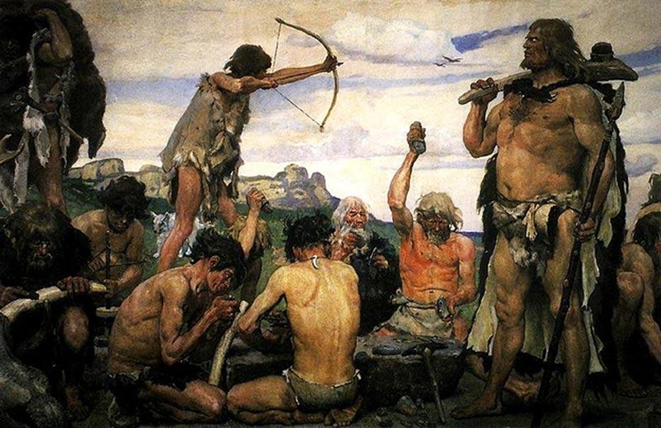 Portada - Representación artística de la Edad de Piedra obra de Viktor Vasnetsov. (Public Domain)