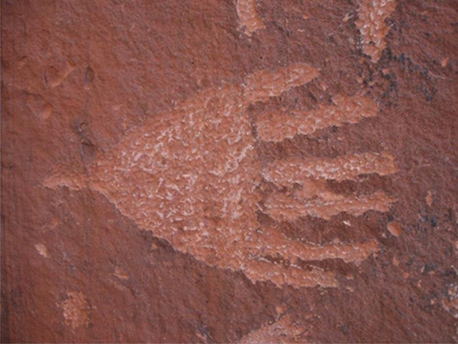Portada - Petroglifo de una mano con seis dedos. Red Tank Draw, Arizona (Hand)
