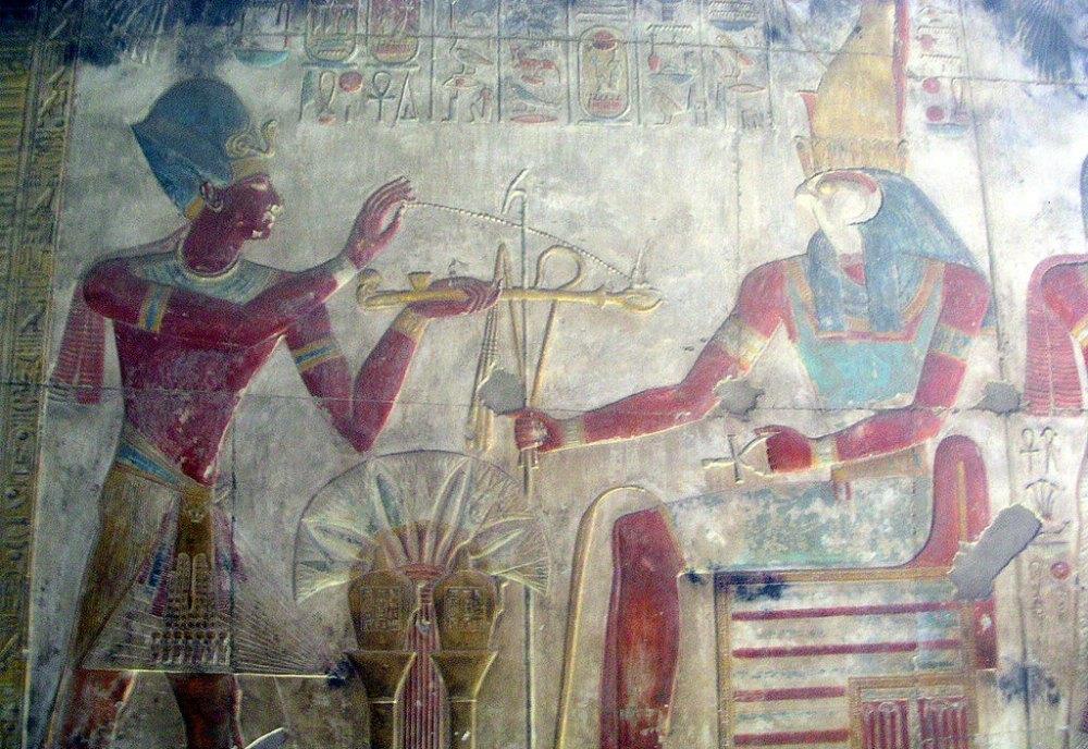 Portada - Seti I quemando incienso ante Horus. (Public Domain)
