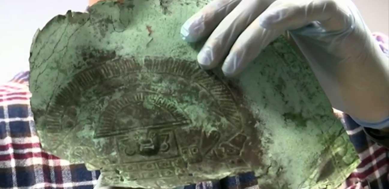 Portada - La máscara funeraria inca recientemente descubierta en Florida. Fuente: ClickOrlando