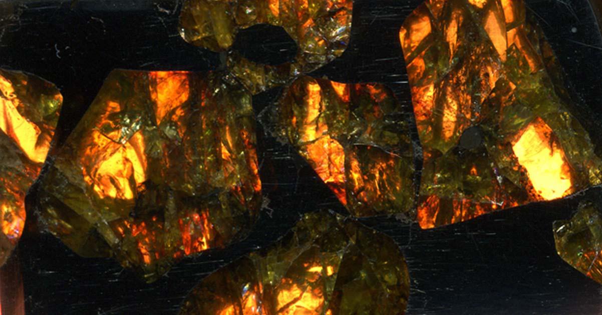 Portada - Pallasita (Meteorito de Fukang) (CC BY 2.0)
