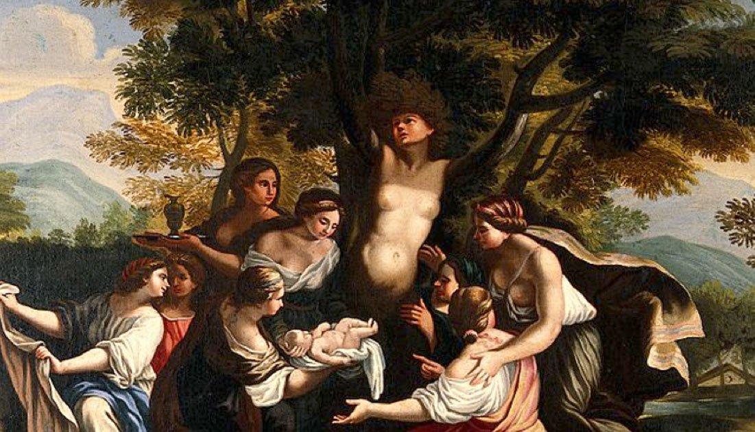 Portada - Detalle de 'El nacimiento de Adonis y la transformación de Mirra,' óleo de Luigi Garzi. (Wellcome Images/CC BY 4.0)
