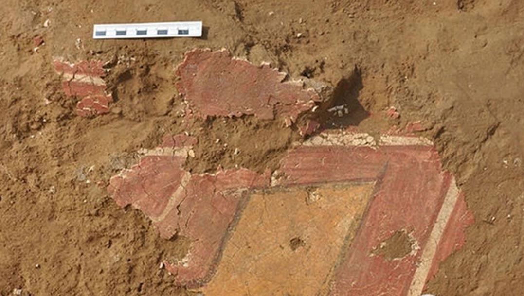 Portada-Primer plano de las pinturas murales recién descubiertas en Shimao-(Foto: chinadaily.com.cn)