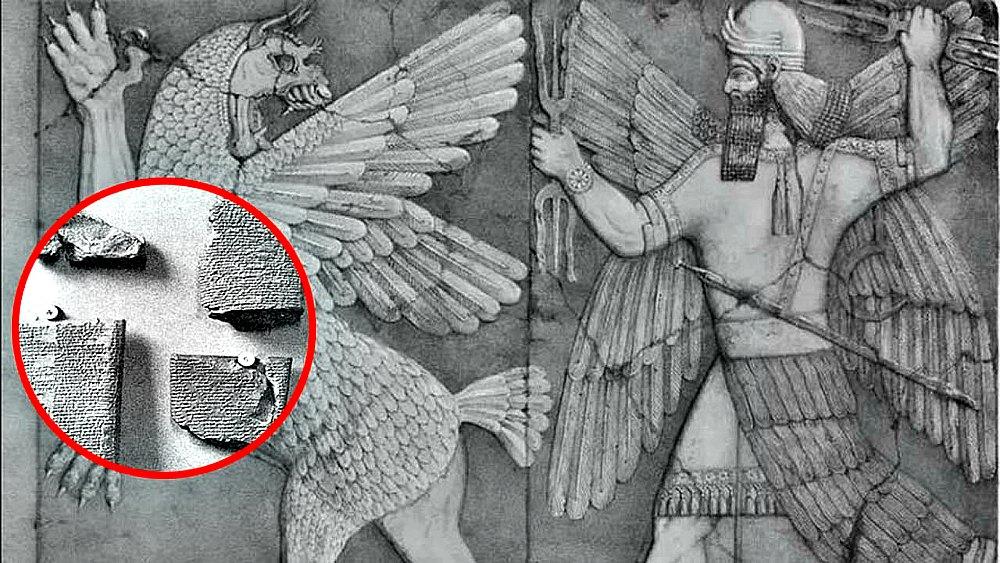 Portada - Fotocomposición. Antiguo relieve sumerio y tablillas sumerias (Código Oculto)