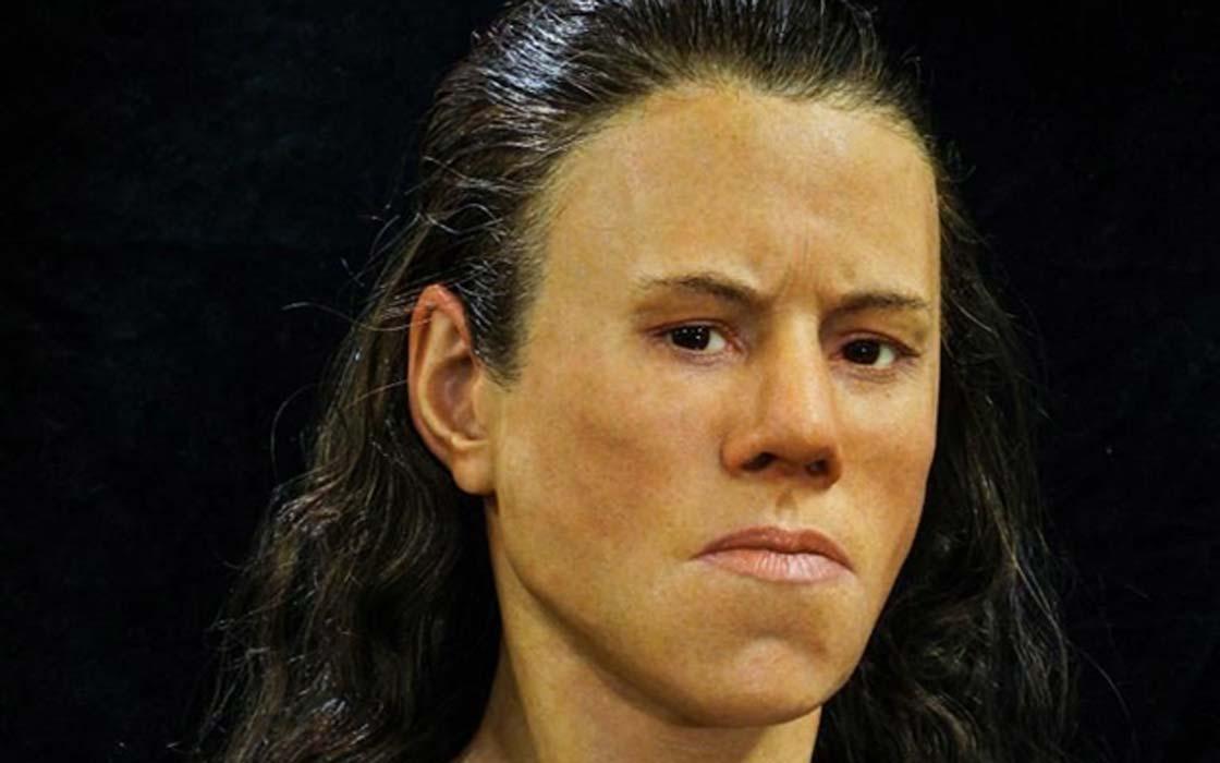 Portada - El rostro de la adolescente, reconstruido a partir de un cráneo con 9.000 años de antigüedad descubierto en Grecia. (Imagen: Oscar Nilsson)