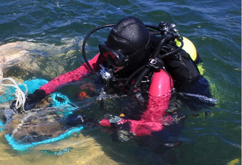 Portada - Buceadores del proyecto 'Expedición arqueológica subacuática a Guatemala'. Fuente: Magdalena Krzemień & Mateusz Popek.