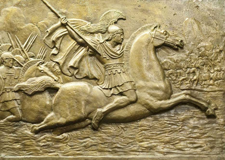Portada - Relieve en piedra de Alejandro Magno. (BigStockPhoto)