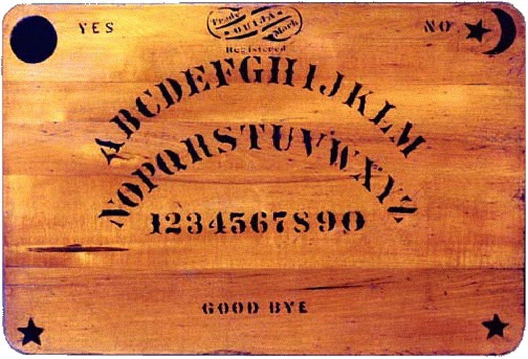 Portada - Tablero Ouija original del año 1894. (Public Domain)
