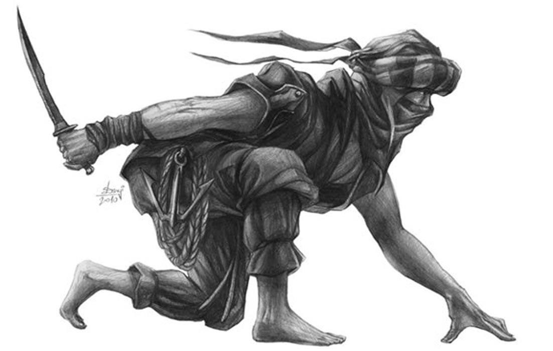 Portada - Representación artística de un hashshashin.