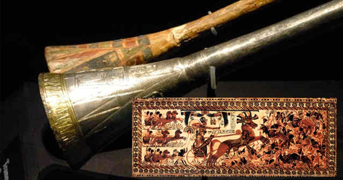 Resultado de imagen de Trompeta Maldita guerra del Rey Tut