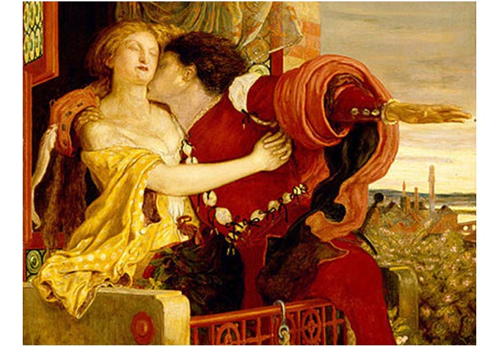 Romeo y Julieta por Ford Madox Brown, 1870
