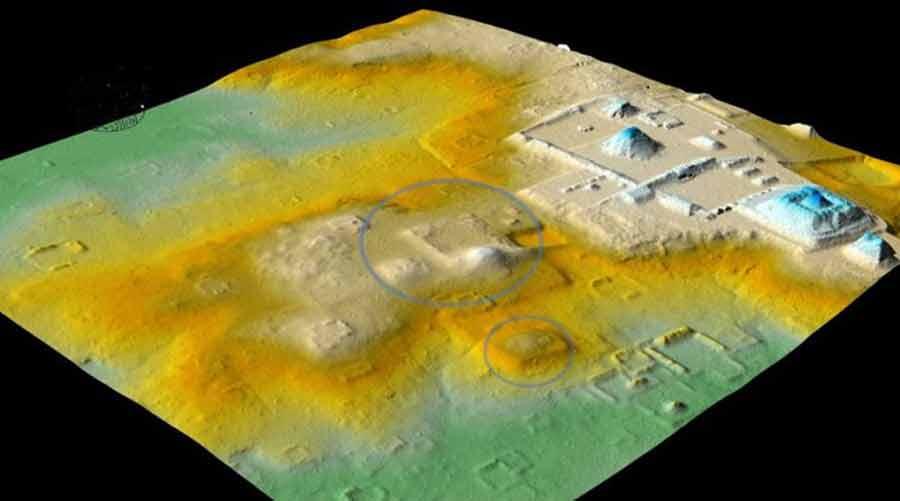 Imágenes LiDAR que revelan una estrecha relación entre las culturas Tikal y Teotihuacana.