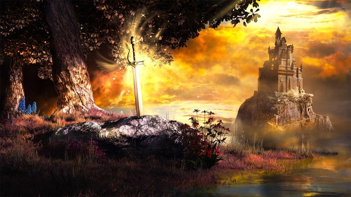 Sword in the Stone es un cuento de la leyenda artúrica. Fuente: Melkor3D / Adobe Stock.