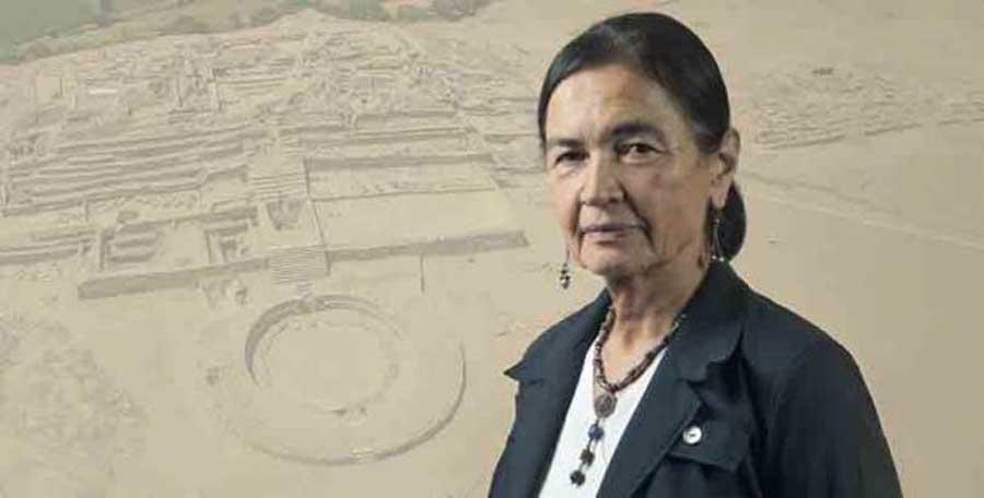 La eminente arqueóloga peruana Ruth Shady, quien ha sido amenazada por sus intentos de proteger el sitio Caral-Chupacigarro.