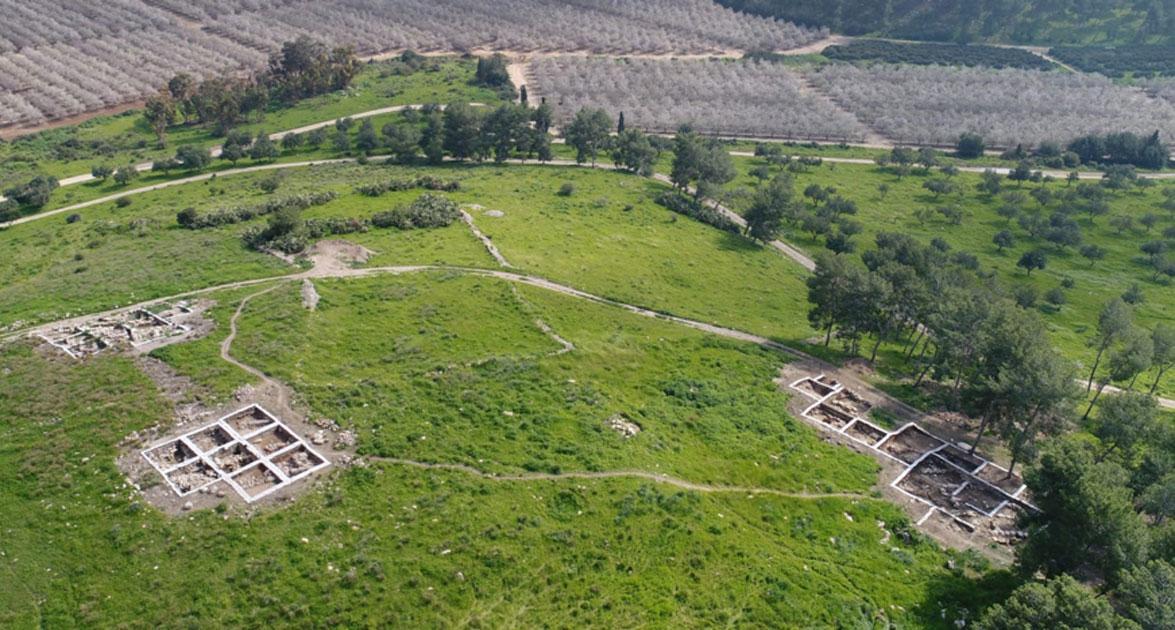 Tel a-Rai, sitio postulado para Ziklag, donde David encontró un santuario bajo el ala filistea. Emil Aljem, Autoridad de Antigüedades de Israel.