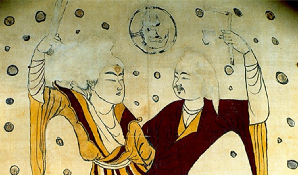 Fuxi y Nuwa son responsables de la creación de la humanidad en la mitología china. Fuente: Stout256 / Dominio público.