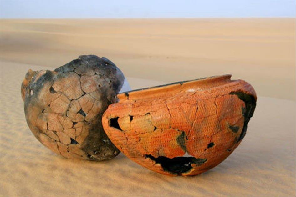 Cerámica prehistórica de 6,000 años del desierto del Sahara, que fue sometida a la nueva técnica de datación. Fuente: Emmanuelle Casanova et al. / Universidad de Bristol / Nature