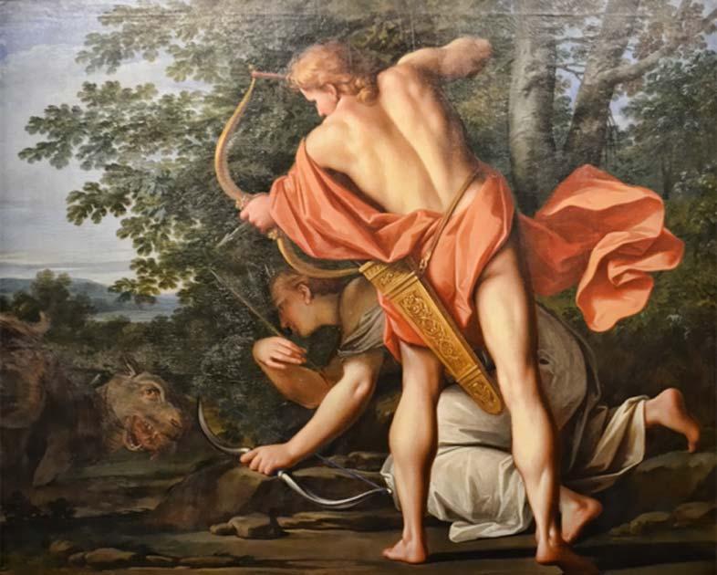 """el dios griego Apolo matando a la serpiente gigante, """"Python"""" Fuente: Choo Yut Shing / CC BY-NC-SA 2.0"""