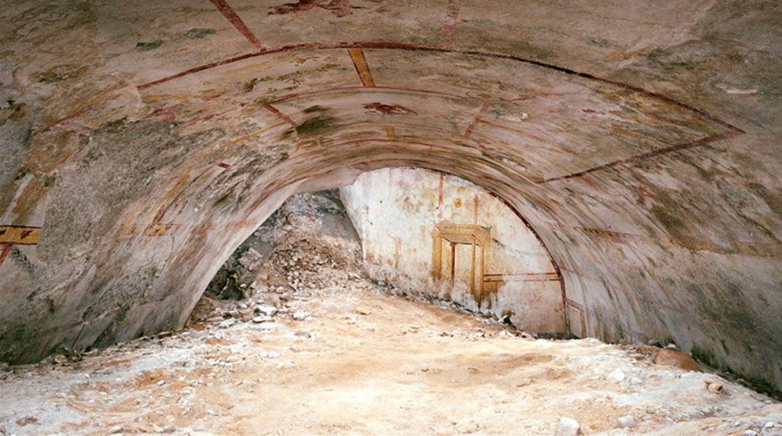 """cámara subterránea en el Palacio de Nero apodada """"Habitación Esfinge"""""""