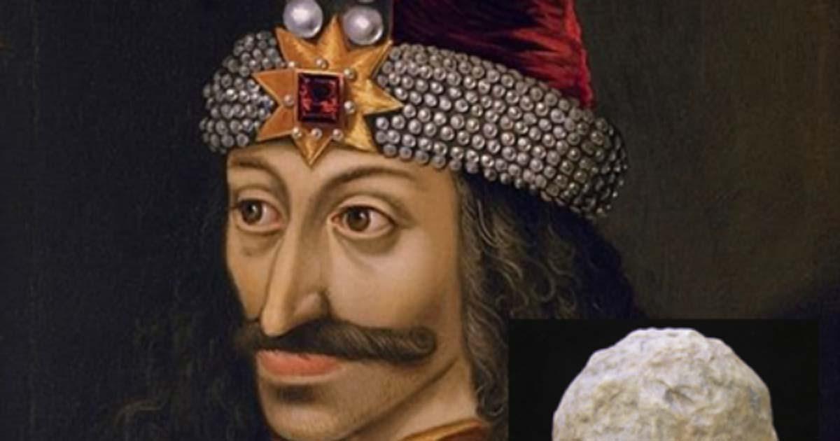 detalle de un retrato de Vlad Ţepeş, el Empalador, Príncipe de Wallachia (1456-1462) (muerto en 1477). Las armas de este hombre que inspiró al vampiro Drácula se han encontrado en Bulgaria. Fuente: dominio público