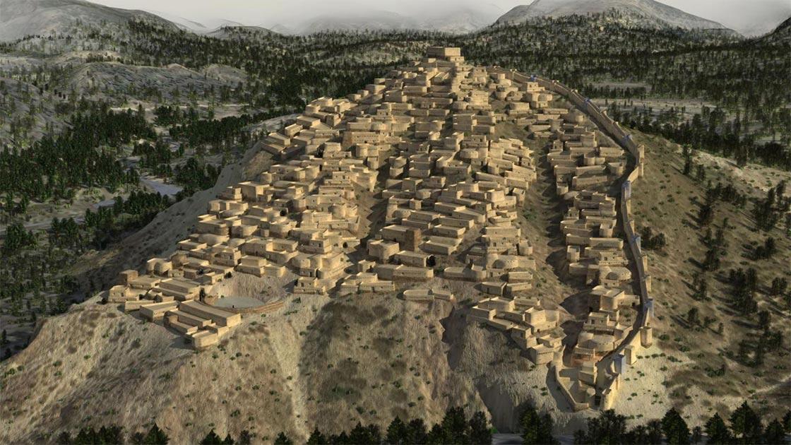 Reconstrucción 3D del sitio de La Bastida de la civilización El Argar. Fuente: Dani Méndes, Revives / Eureka