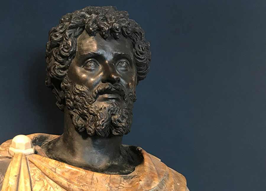 El primer emperador romano africano, Septimio Severo, representado en un busto que se encuentra actualmente en Copenhague
