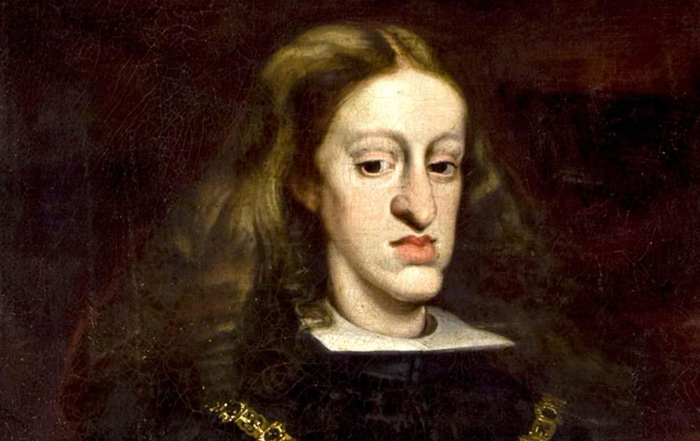 El rey Carlos II de España, fue el último gobernante de los Habsburgo del Imperio español. Ahora es mejor recordado por sus discapacidades físicas. Fuente: TRAJAN 117 / Dominio público
