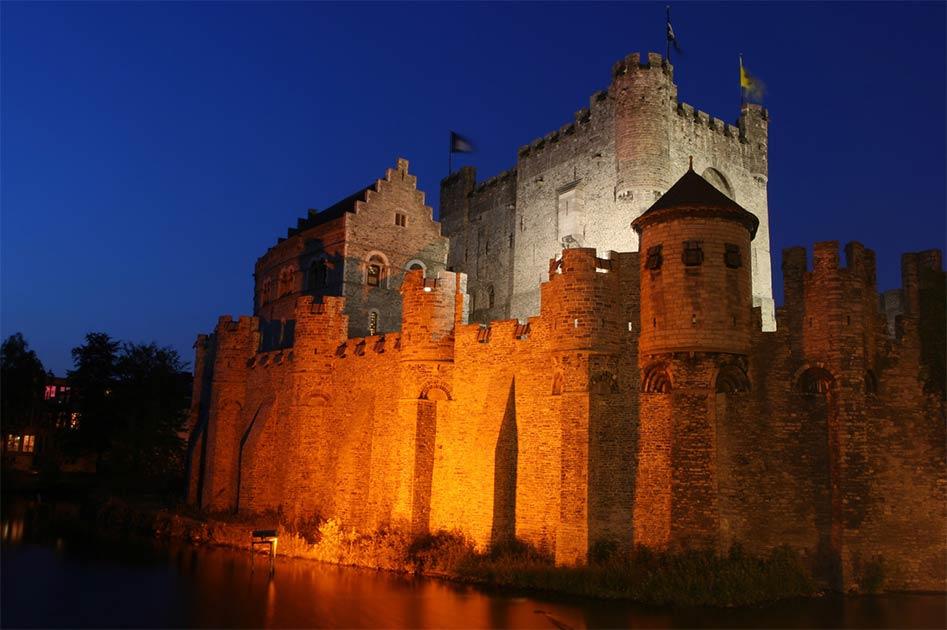 Castillo de Gravensteen en Gante, Bélgica
