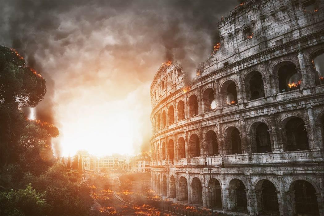 Después del Gran Incendio de Roma y el suicidio de Nerón, la dinastía Flavia se hizo cargo y se embarcó en una juerga de construcción en Roma. El Coliseo y la distracción de los juegos fue la Roma que siguió la regla de Nerón, que según el último libro sobre él no fue en absoluto lo que nos ha enseñado la historia.