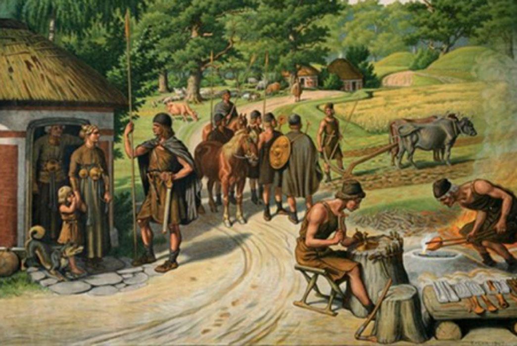 Ilustración de la Edad del Bronce posterior por Rasmus Christiansen. Fuente: Dandebak