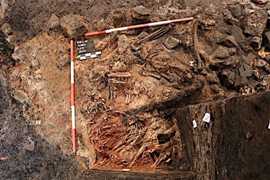 Restos de sacrificios humanos encontrados en Moravia del Sur, República Checa. Fuente: Archaia Brno