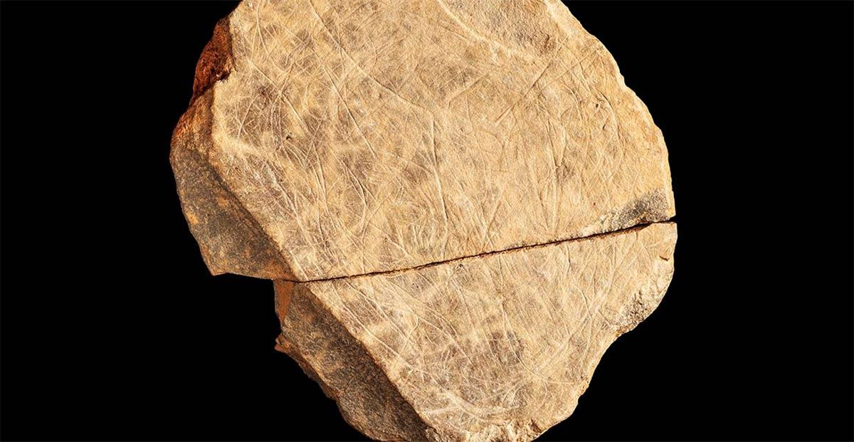 La más completa de las diez obras de arte de la edad de hielo descubiertas en Jersey en las Islas del Canal de la Mancha, que data de hace unos 15.000 años