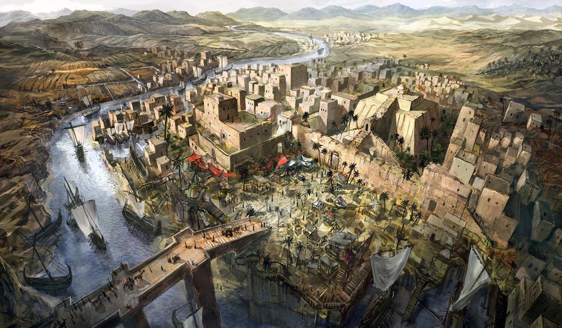 portada: Illustración de Mesopotamia. (Jeff Brown Graphics)