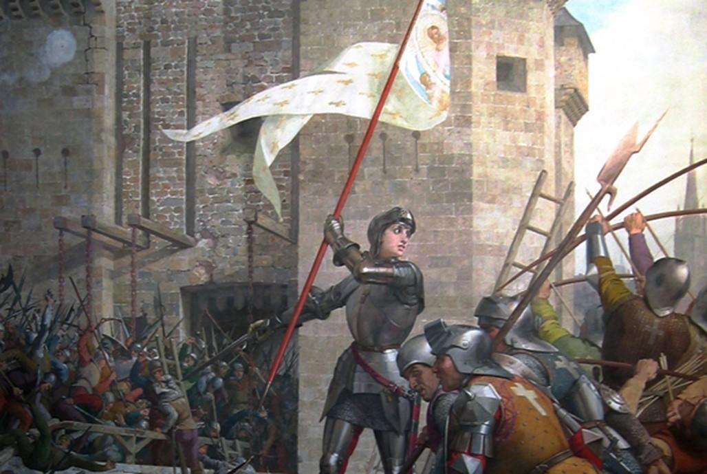Detalle; Juana de Arco en el asedio de Orleans por Jules Lenepveu (CC BY-SA 2.5)
