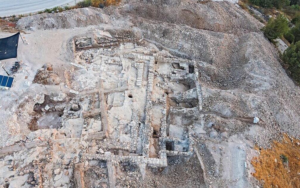 Imagen aérea de la excavación del Reino de Judá, un complejo administrativo de 2.700 años de antigüedad en Jerusalén. Fuente: Yaniv Berman / Autoridad de Antigüedades de Israel