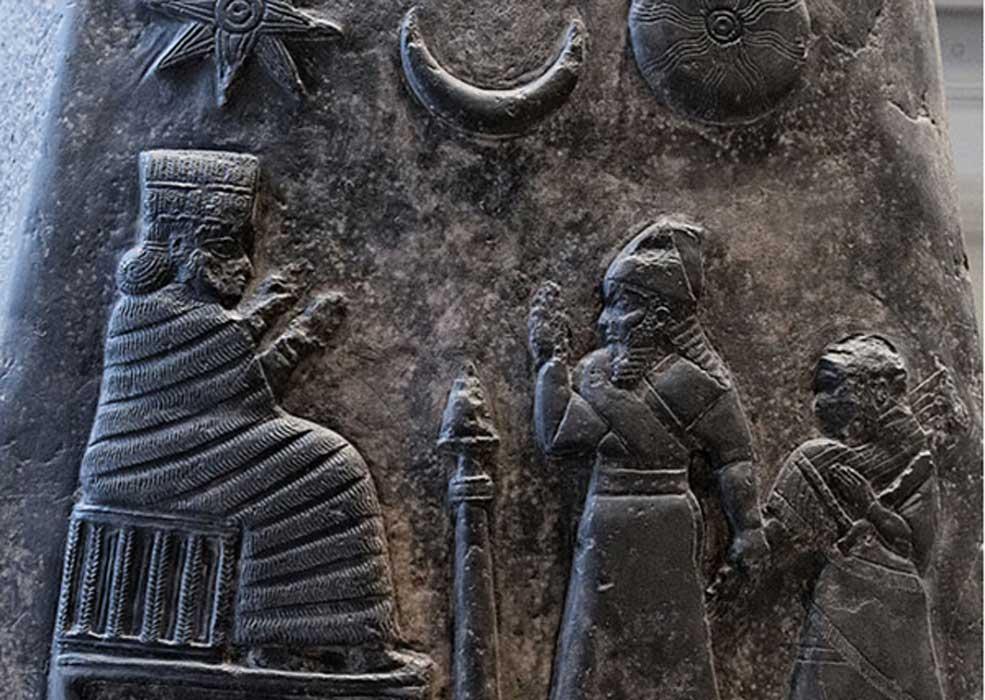 El grabado de los dioses representados en el kudurru se dispuso en un orden particular.