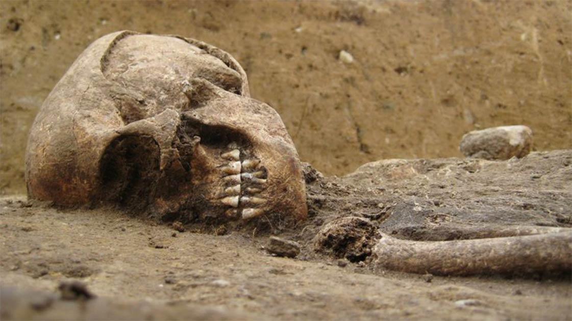 : Los restos humanos de 5.000 años de antigüedad conocidos como la Dama de Bietikow.