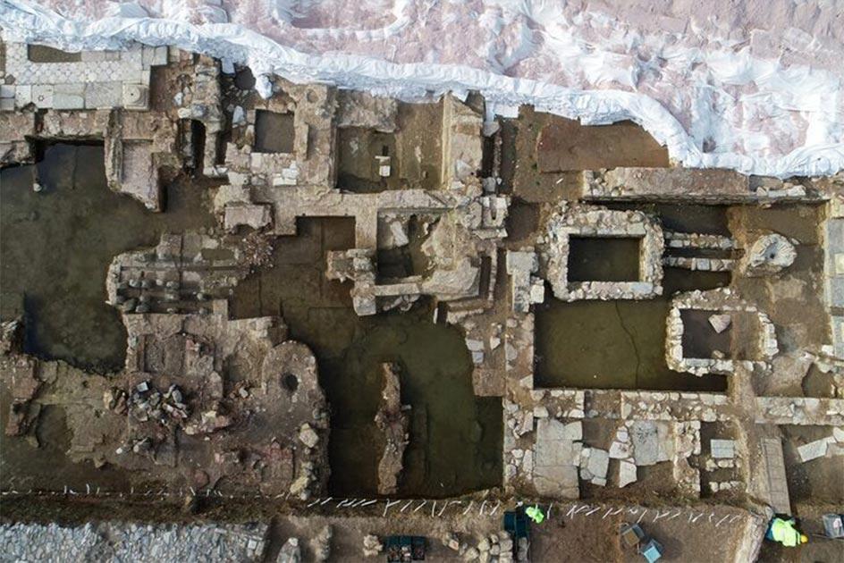 Una sección del sitio de excavación en la región conocida como la Tierra de los Ciegos, Estambul, Turquía. Fuente: AA