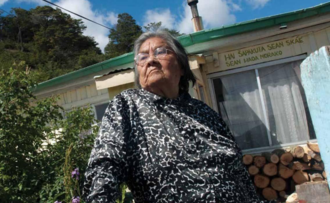 Cristina Calderón, última hablante nativa del idioma yaghan. Fuente: SIGPA