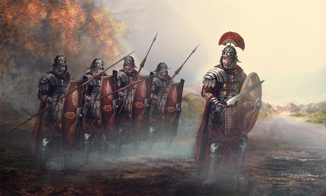 líder romano y sus soldados. Crédito: vukkostic / Adobe Stock