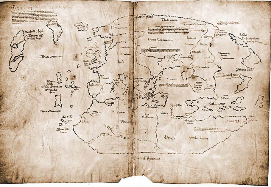 Aún no está claro si el mapa de Vinland es un fraude colosal o un artefacto increíblemente valioso. Se dice que es un mapa del siglo XV, es el primer mapa conocido de la costa de América del Norte.