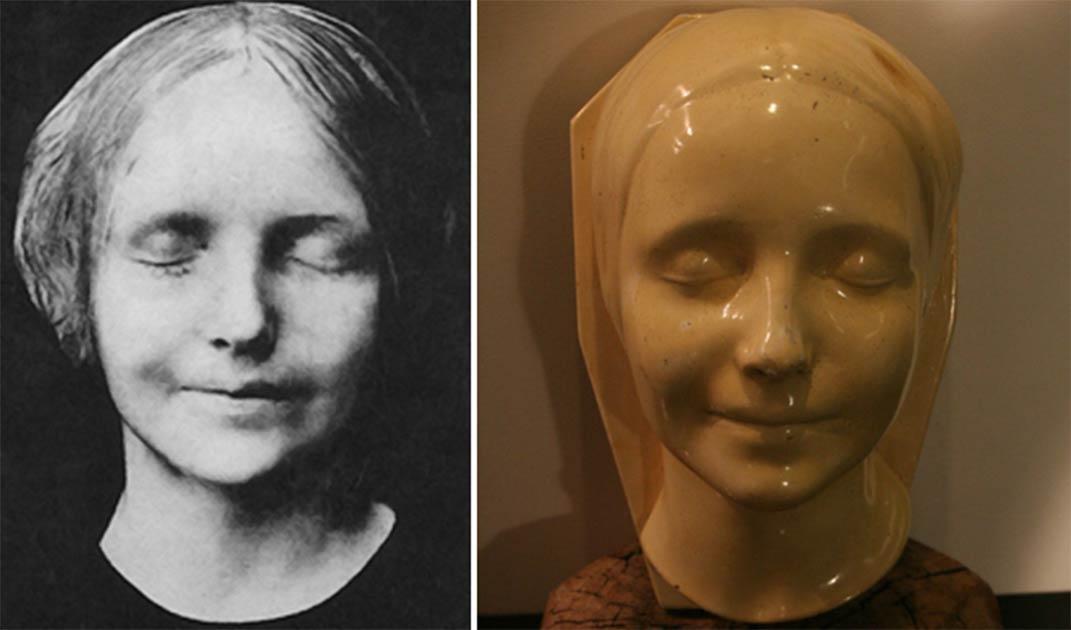 El rostro de la Inconnue de la Seine a su muerte, que inspiró la creación de su máscara mortuoria y dio más esperanzas a millones sobre el proceso de pasar al otro lado.