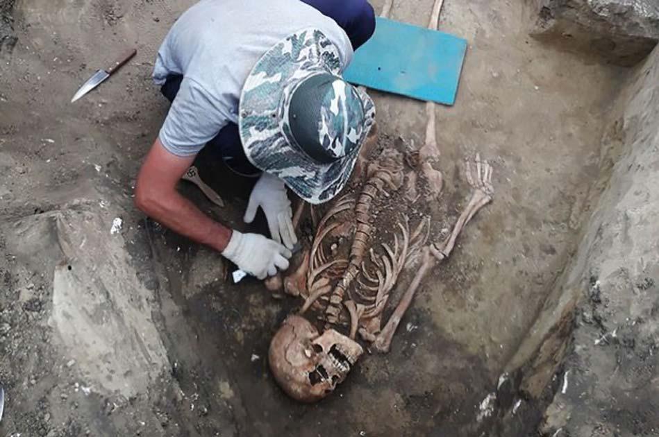 La mujer guerrera bárbara (Imagen: arqueólogo unido del Cáucaso del Norte)