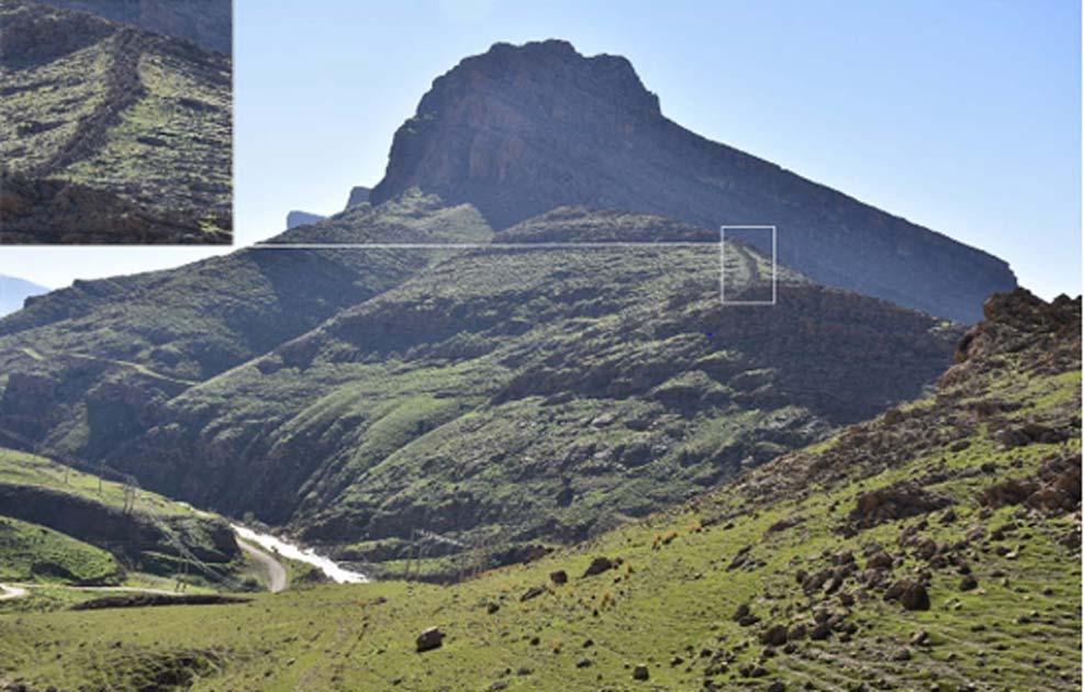 Ubicación del muro de Gawri en el monte Salmaneh, al sureste de la montaña Bamu. Fuente: S. Alibaigi / © Antiquity Publications Ltd, 2019